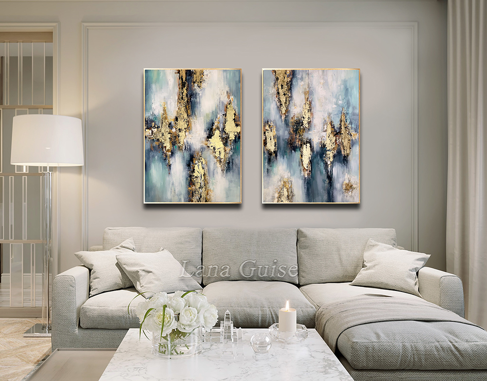 Impulse - abstract Palette Knife Original Oil Paintings On Canvas By Lana Guise