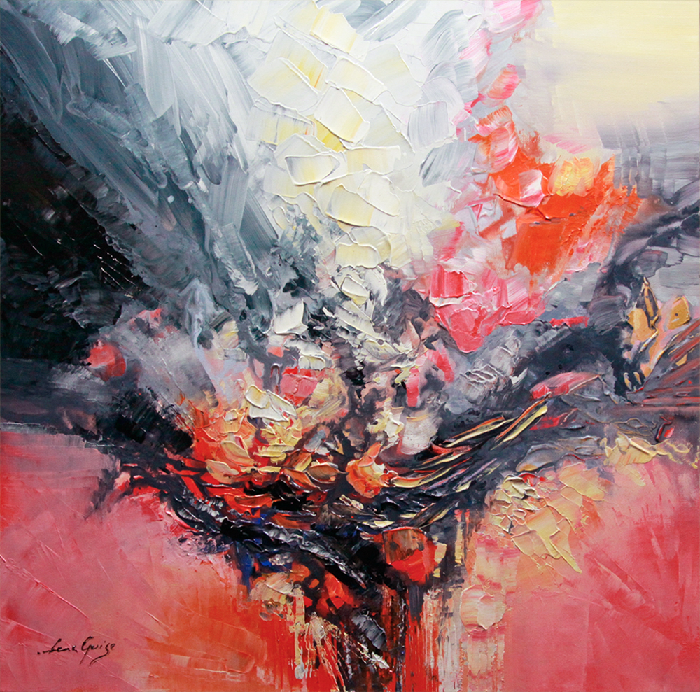 Shape of You - abstract Palette Knife Original Oil Paintings On Canvas By Lana Guise