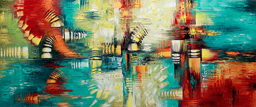Untouchable - abstract Palette Knife Original Oil Paintings On Canvas By Lana Guise