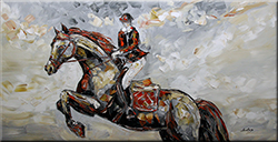 VICTORY - FIGURATIVE Painting n.1 Palette Knife Original Oil Paintings On Canvas By Lana Guise