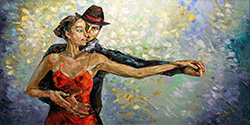 WHILE THE FLAME BURNS - FIGURATIVE Painting n.3 Palette Knife Original Oil Paintings On Canvas By Lana Guise