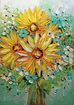 Sunflowers - floral-art View 1
