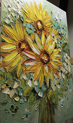 Sunflowers - floral-art View 3
