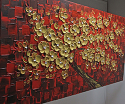 Red in Gold - tree-art View 3